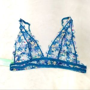 Honeydew NEW Bralette Large Teal Lace